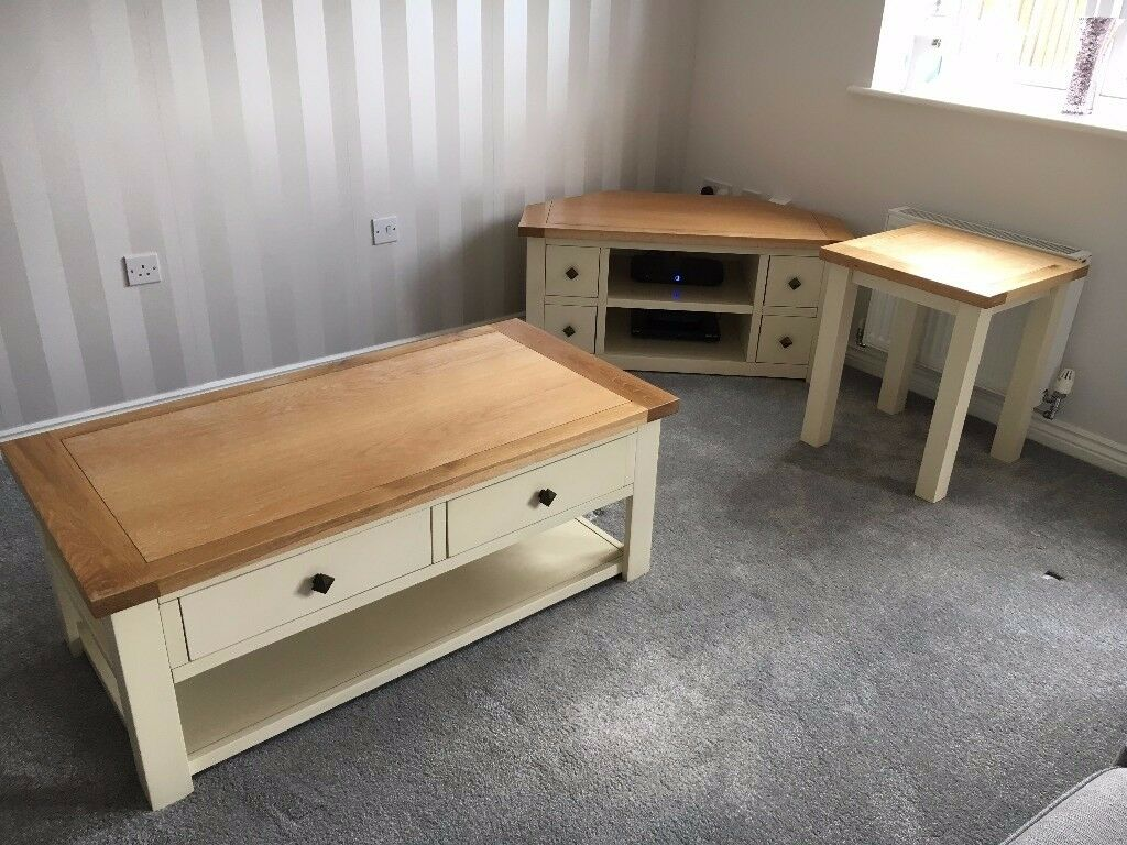 Stunning oak living room furniture coffee table tv stand and stunning oak living room furniture coffee table tv stand and side table from dunelm geotapseo Images