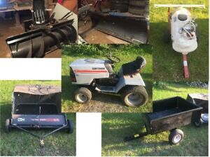 Sears Lawn Tractor snowblower trailer sprayer sweeper more.....
