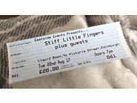 Stiff little fingers tickets for sale x 2