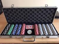 Poker Chip Set 500 Chips in Heavy Duty Case