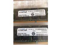 Apple MacBook 16Gb Ram (2x8gb) Crucial 1333 SODIMM MAC Fully Tested