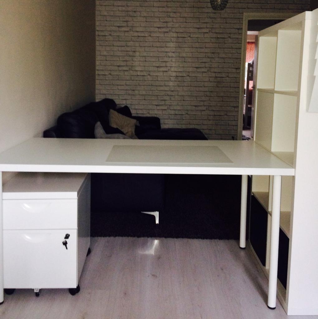 Ikea Kallax Shelf Storage And Desk Combination Filling Cabinets
