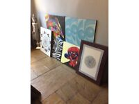 25 x Wooden Canvas Pictures