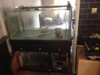 Fish tank stand and sump