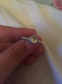 100% genuine Pandora birthstone ring size 54