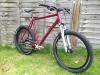 Custom built cube hardtail mtb mountain bike
