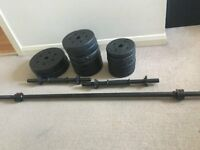 New Barbell and Dumbbell Weights Set for Sale