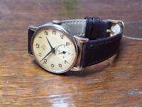 Vintage 9k 9ct solid gold Smiths De Luxe British Rail mens watch