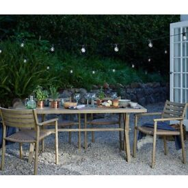 Croft Collection Islay Outdoor Dining Set, Table, Chairs x 4 & Bench