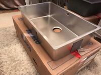 Brand new stainless steel blanco sink ando with box