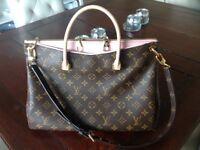 Louis Vuitton Pallas Rose Ballerine Handbag