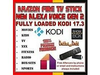 Amazon Fire TV Stick Kodi 17.3 2nd gen Alexa Movies TV shows Kids Sports Support MOBDRO