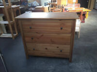 wooden set of drawers.