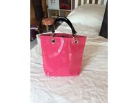 Hobb's pink Paton leather handbag