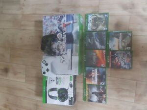 Xbox one s 1TO 2 manettes 7 jeu