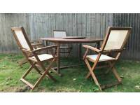 6 seater Hardwood table and chairs