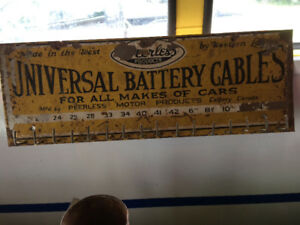 Battery cable sign