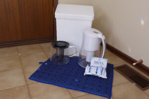 Water Filter Jug, Tea Pot, Roommate garbage bin, Drying Mat