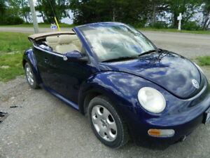 2003 BEAUTIFUL SPORTY BLUE VW Beetle Convertible, Certified !