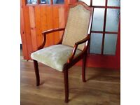 2 X Solid Wood Carver Dining Chairs