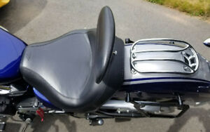 "Mustang Seat Vintage with Driver Backrest and Luggage Rack ""Chro"