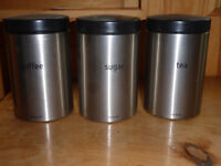 Brabantier stainless storage canisters