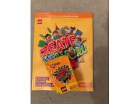 Create the World Lego book with 22 packs of cards