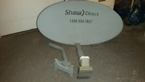 SHAW DIRECT SATELLITE DISH with XKU LNB  used