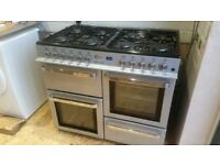 Flavel Milano 100 Range Cooker Gas Dual fuel 8 Burners