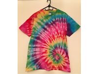 One of a kind, hand dyed, tie dye t-shirt