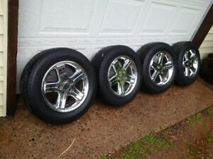 Bright Polished Rims with Tires