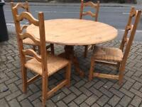 Pine dining table with chairs-£50 delivered