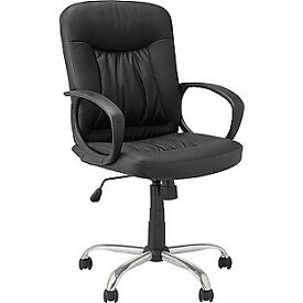 Deluxe Gas Lift Manager's Office Chair - Black