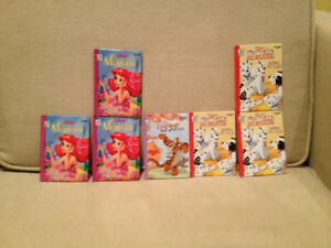 7 Disney Mini Hard Cover Books (New)