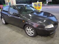 54 reg black top spec alfa romeo 1.9 diesel for spares or repairs runs and drives DRIVEAWAY