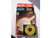 4 Banjo tuition books and CD by Hall Leonard