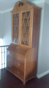Antique Dresser with Secretary Desk and Hutch