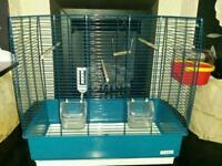 Bird cage meduim size ex cond as new aqua blue colour