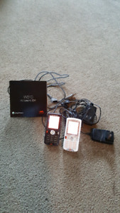 Two Sony Ericsson W810 mobile phones locked to Rogers