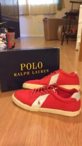 Red polo ralph lauren shoes