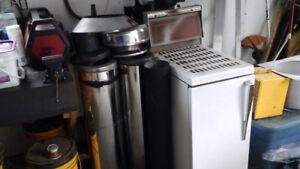 Fournaise réservoirs et cheminée