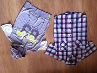 Mens sleeveless hoodie and Smart summer shirt. - Size small - only used a few times.