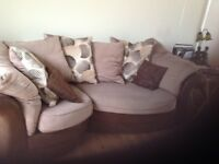 Suite of furniture for Sale Just 3 years old. Mixture of leather and fabric