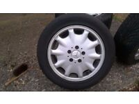 Mercedes c class alloy wheels x4 tyres excellent condition