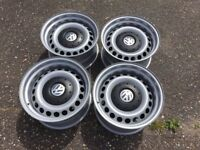 Vw transporter T5 T6 banded steel wheels, 16inch, staggered, 5x120 mint