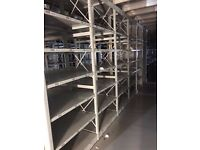 JOB LOT 100 bays of LINK industrial shelving 2.1m high AS NEW ( storage , pallet racking )