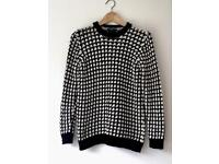 M&S Black and White Jumper