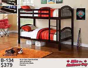 GREAT SELECTION OF SINGLE/SINGLE BUNK BEDS STARTING AT $249