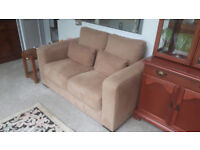 2 Seater Sofa Tan Light Brown Extremely Comfortable Couch Only 6 Months Old