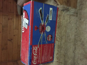 New still in box Coca Cola ceiling fan very collectible 140 firm